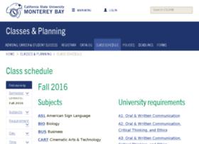 schedule.csumb.edu