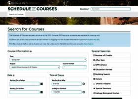 schedule.msu.edu