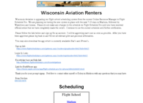 schedule.wisconsinaviation.com