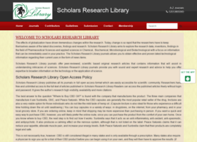 scholarsresearchlibrary.com
