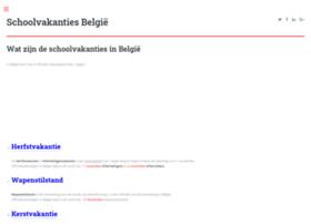 schoolvakantie-belgie.be