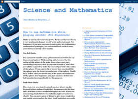 science-and-mathematics.blogspot.in