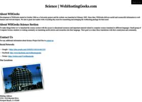 science.webhostinggeeks.com
