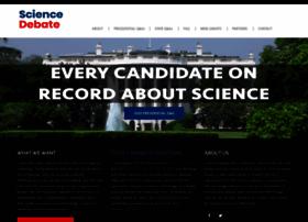 sciencedebate.org