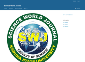 scienceworldjournal.org
