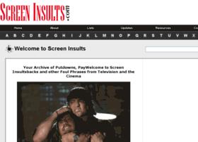 screeninsults.com