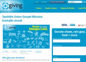 seattles-union-gospel-mission.thegivingeffect.com