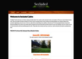 secludedcabins.com