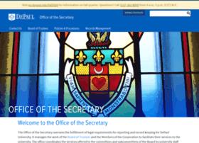 secretary.depaul.edu