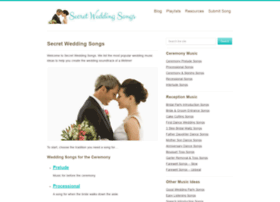 secretweddingsongs.com