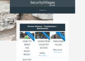 securityvillages.co.za