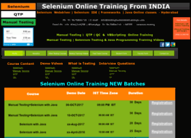 seleniumonlinetrainings.com