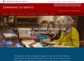 semitics.cua.edu