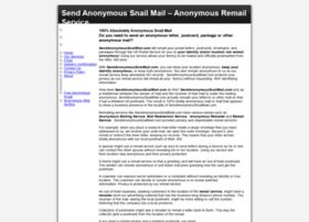 Sendanonymoussnailmail.com
