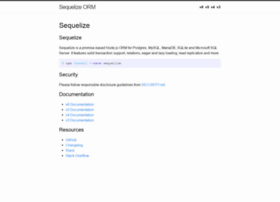 sequelize.readthedocs.org