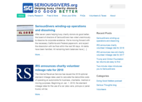 seriousgivers.org