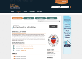 Setonhall.lawschoolnumbers.com