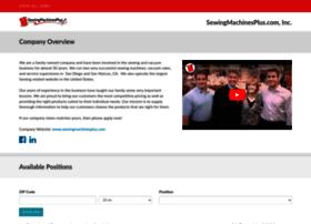 sewingmachinesplus-com.careerplug.com
