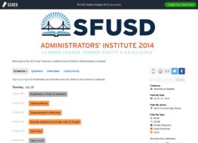 sfusdadmininstitute2014.sched.org