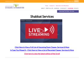 shaareshamayim.shulcloud.com