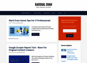 shahkaushal.com