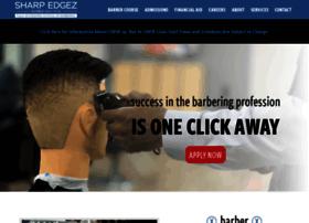 sharpedgezbarberinstitute.com