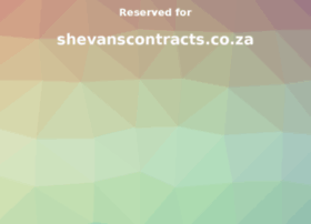 shevanscontracts.co.za