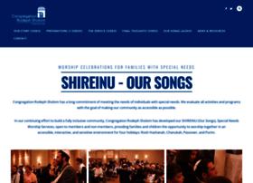 shireinu.rodephsholom.org