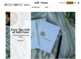 shop.milkandhoneyspa.com
