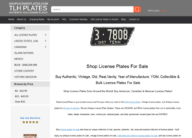 Shoplicenseplates.com