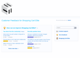 Shoppingcartelite.uservoice.com