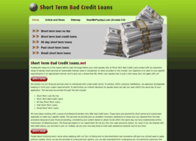 shorttermbadcreditloans.net