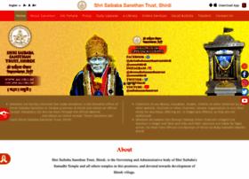 shrisaibabasansthan.org
