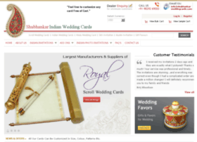 shubhankarweddingcards.com