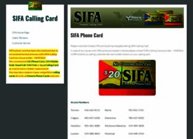 sifacallingcard.com