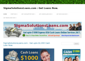 sigmasolutionsloans.com