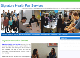 signaturehealthfairs.com
