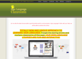 signlanguageclassrooms.com