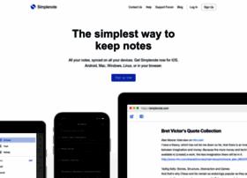simplenoteapp.com