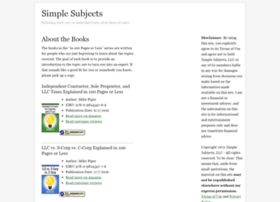 simplesubjects.com