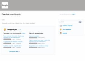 simplib.uservoice.com