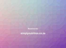 simplynutrition.co.za