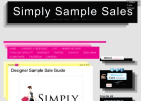 simplysamplesales.com