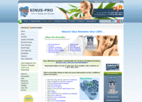 Sinus Pro Com Info Natural Relief For Sinus Infections