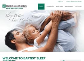 sleep.baptisthealth.net