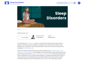 sleepdisorders.sleepfoundation.org