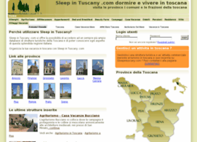 sleepintuscany.com