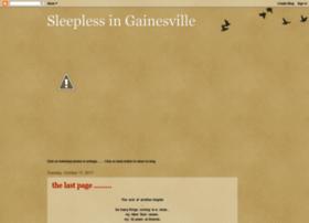 sleeplessingainesville.blogspot.com