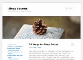 sleepsecrets.org