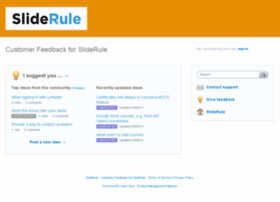 sliderule.uservoice.com